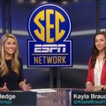 New SEC Now host, Laura Rutledge, guest hosting on the news and information show this spring.