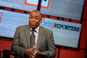 Bristol, CT - May 12, 2013 - Studio A: John Saunders on the set of The Sports Reporters (Photo by Joe Faraoni / ESPN Images)