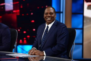 Bristol, CT - December 8, 2014 - Studio W:  Tom Jackson on the set of Monday Night Countdown (Photo by Joe Faraoni / ESPN Images)