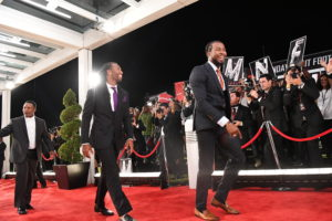 Cypress, CA - July 14, 2016: Larry Fitzgerald and Josh Norman during the MNF Opener (Photo by Scott Clarke / ESPN Images)