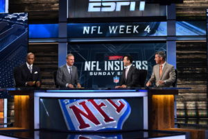Bristol, CT - October 2, 2016 - Studio W: Louis Riddick, Trey Wingo, Adam Schefter and Mark Dominik on the set of NFL Insiders: Sunday Edition (Photo by Joe Faraoni / ESPN Images)