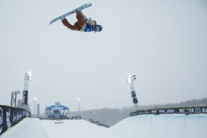 Aspen, CO - January 31, 2016 - Buttermilk Mountain: Chloe Kim competing in Women's Ski SuperPipe Final during X Games Aspen 2016 (Photo by Pete Demos / ESPN Images)