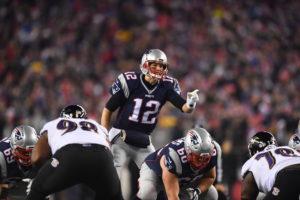 Foxborough, MA - December 12, 2016 - Gillette Stadium: Tom Brady (12) of the New England Patriots during a regular season Monday Night Football game (Photo by Joe Faraoni / ESPN Images)