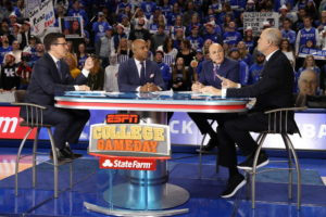 Lexington, KY - January 28, 2017 - University of Kentucky: Rece Davis, Jay Williams, Seth Greenberg and Jay Bilas on the set of College GameDay Covered by State Farm (Photo by Allen Kee / ESPN Images)