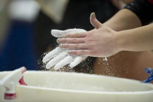 gymnastics hands (Photo by Scott Clarke / ESPN) - Gymnastics153.jpg -