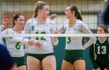 Volleyball Sweeps Edmonds on Sophomore Night
