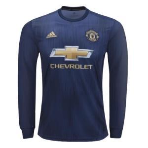 2018-2019 Manchester UTD Long Sleeve Shirt Stuff : Imported Polyester Full Kit : Shirt and shorts