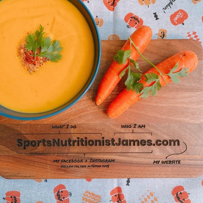 high protein pumpkin carrot soup