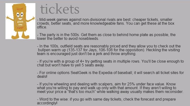 Ticket tips