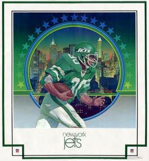 New York Jets 1979 DAMAC Theme ArtPoster