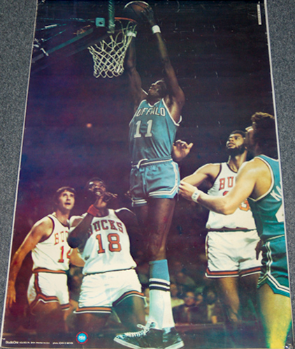 Bob McAdoo Buffalo Braves NBA Action Poster - Studio One SI 1974