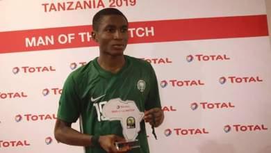 Photo of Ibraheem Jabaar named the Man of the Match in Golden Eaglets 1-1 draw against Uganda