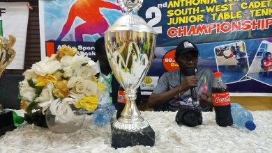 Photo of 2ND ANTHONIA AKIODE CADET AND JUNIOR TABLE TENNIS CHAMPIONSHIP SERVES OFF MONDAY