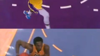 Photo of VIDEO: LeBron James pays tribute to Kobe Bryant with a dunk he did 19 years ago