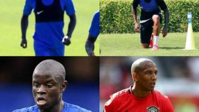Photo of Fans react after pictures of Ngolo Kante and Ashley Young with hair surface online