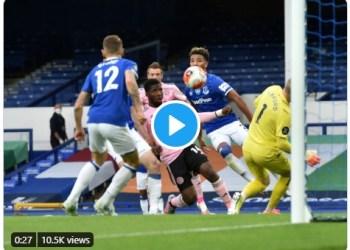 Kelechi Iheanacho's goal against Everton