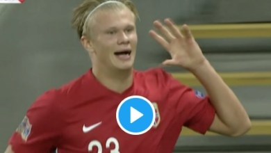 Photo of VIDEO: Watch Håland scores super goal, then celebrates the 'Michu way'
