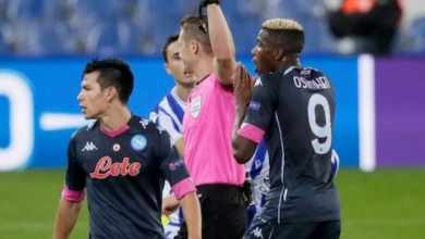 Photo of Osimhen gets first career red in Napoli UEL win