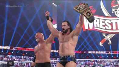 Photo of Watch as McIntyre Beats Goldberg To Retain WWE Title at Royal Rumble