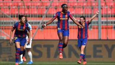 Photo of Oshoala on target as FC Barcelona hand Manchester City women heaviest UWCL defeat ever
