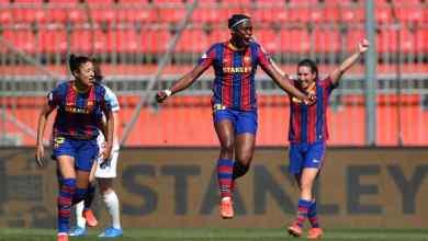 Photo of VIDEO: Oshoala's great hit gives Barcelona the lead v City at the break