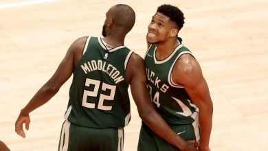Photo of Middleton, Giannis shine as Bucks takes lead in Eastern Conference finals