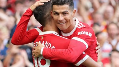 Photo of Ronaldo nets brace on second Manchester United debut