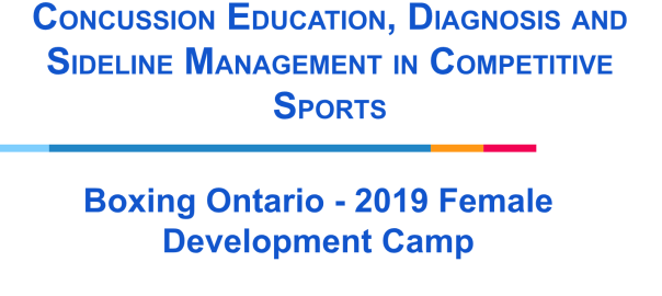 Concussion Education, Diagnosis and Sideline Management in Competitive Sports