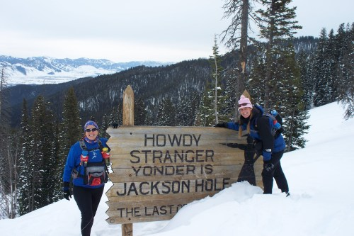 Me and Lisa at the top of the Teton Pass