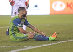 Seattle Sounders Forward Clint Dempsey #2 During a match between the Houston Dynamo vs Seattle Sounders FC