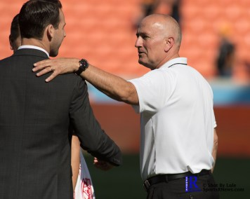 San Jose Earthquakes Head Coach Dominic Kinnear After a match Between The Houston Dynamo vs San Jose Earthquakes, Goals from Houston Dynamo Forward Erick Torres #9and Houston Dynamo Forward Alberth Elis #17 Would earn the dynamo a win by a score of 2 to 0.April 22,2017 BBVA Compass Stadium.