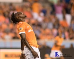 Houston Dynamo Forward Alberth Elis #17 gets frustraded after he miss an opportunity to score During a match between the Houston Dynamo vs Orlando City SC,Week 10 of the MLS.Houston Tx.2017