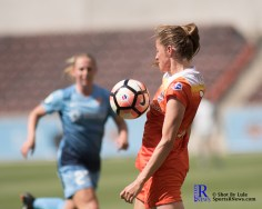 During a match between the Houston Dash vs Sky Blue FC, Final Score Dash 1-SkyBlue 3.Houston Tx, 2017