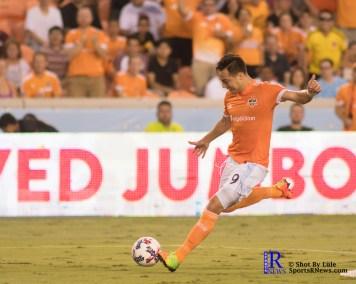 Houston Dynamo Forward Erick Torres #9 scores a goal During a match between the Houston Dynamo vs Dallas FC,June 23,2017 Houston Tx.
