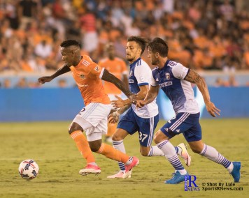 Houston Dynamo Forward Romell Quioto #12 controles the ball During a match between the Houston Dynamo vs Dallas FC,June 23,2017 Houston Tx.