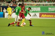 Ghana Forward Raphael Dwamena #11 controls the ball During a match between Mexico National Team and Ghana National Team at NRG Stadium ,June 28,2017 Houston Tx.