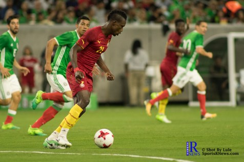 Ghana Defender John Boye #21 During a match between Mexico National Team and Ghana National Team at NRG Stadium ,June 28,2017 Houston Tx.