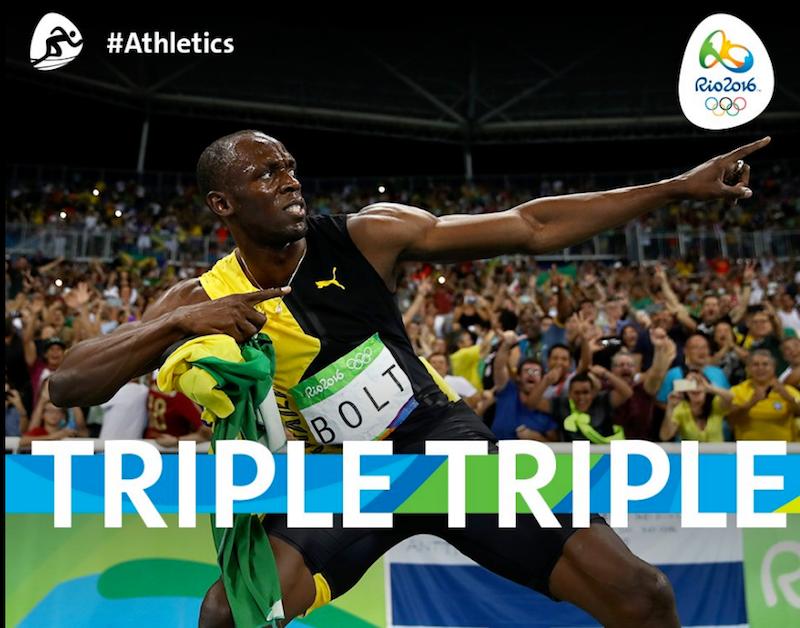 「飛人」保特一個人就為牙買加贏得3面金牌。