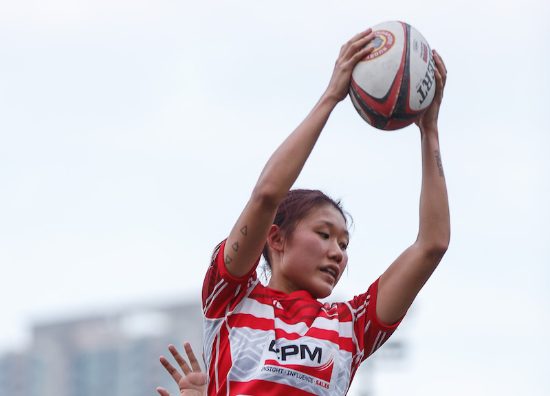 2017 Women's Rugby World Cup Qualifier - Hong Kong v Japan at Hong Kong Football Club on 17 December 2016. Photo by Phoebe Leung / Prezz Images.