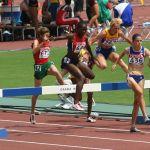World Athletics Championships 2007 in Osaka - Women's 3000 meter steeplechase 3rd heat. Image includes Katarzyna Kowalska (739), Hanane Ouhaddou (672), Ruth Bisibori Nyangau (646), Cristina Casandra (767), Sophie Duarte (436), Yekaterina Volkova (847). Photo by Eckhard Peter.