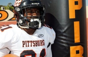 Pittsburg Football Career Crushing Record, Montaz Thompson