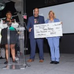 Darryl Aikens Memorial Scholarship presented by Tierra Barker, Brian & Relonda McGhee and Oakland Promise Ambassador Ay'Anna Moody to Tamia Holmes, McClymonds - 4.11 GPA