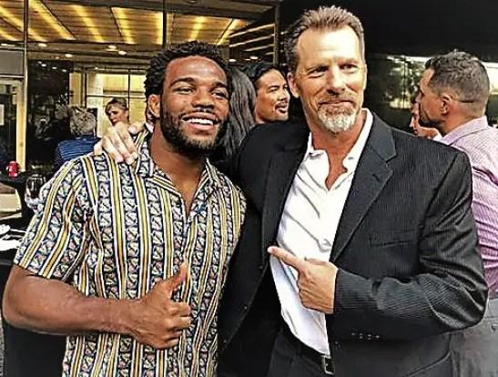 Frank with 5x World & Olympic Champion Jordan Burroughs