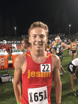 Jesuit Cross Country Senior, MATT STRANGIO blazed through Fresno's Woodward Park course in a time of 14 minutes and 44 seconds on Nov. 30. It was 16 full seconds faster than the next closest finisher and delivered his second consecutive CIF Division I State Championship