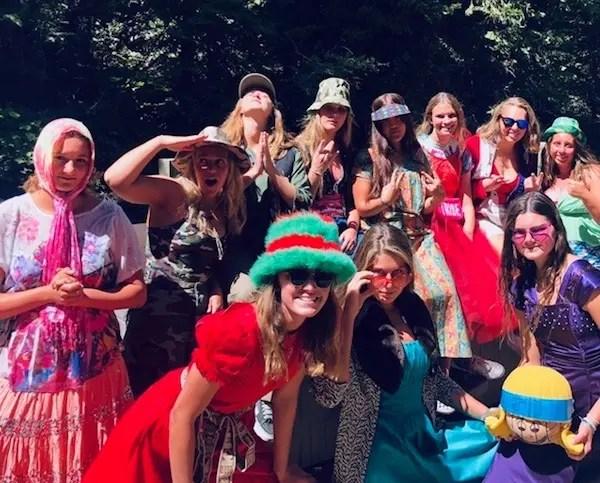Acalanes girls water polo, team fun, Tahoe