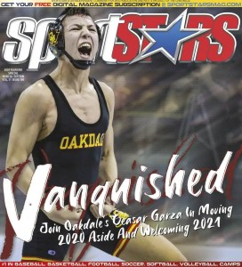Ceasar Garza, high school wrestling star wins the fan cover vote contest and is featured on the December 2020 SportStars cover #190