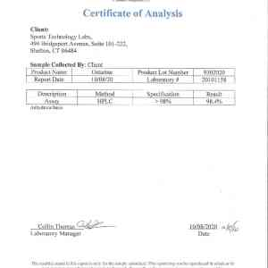 ostarine certificate of analysis