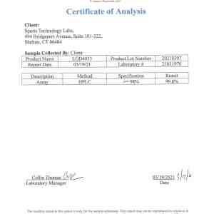 LGD4033 certificate of analysis