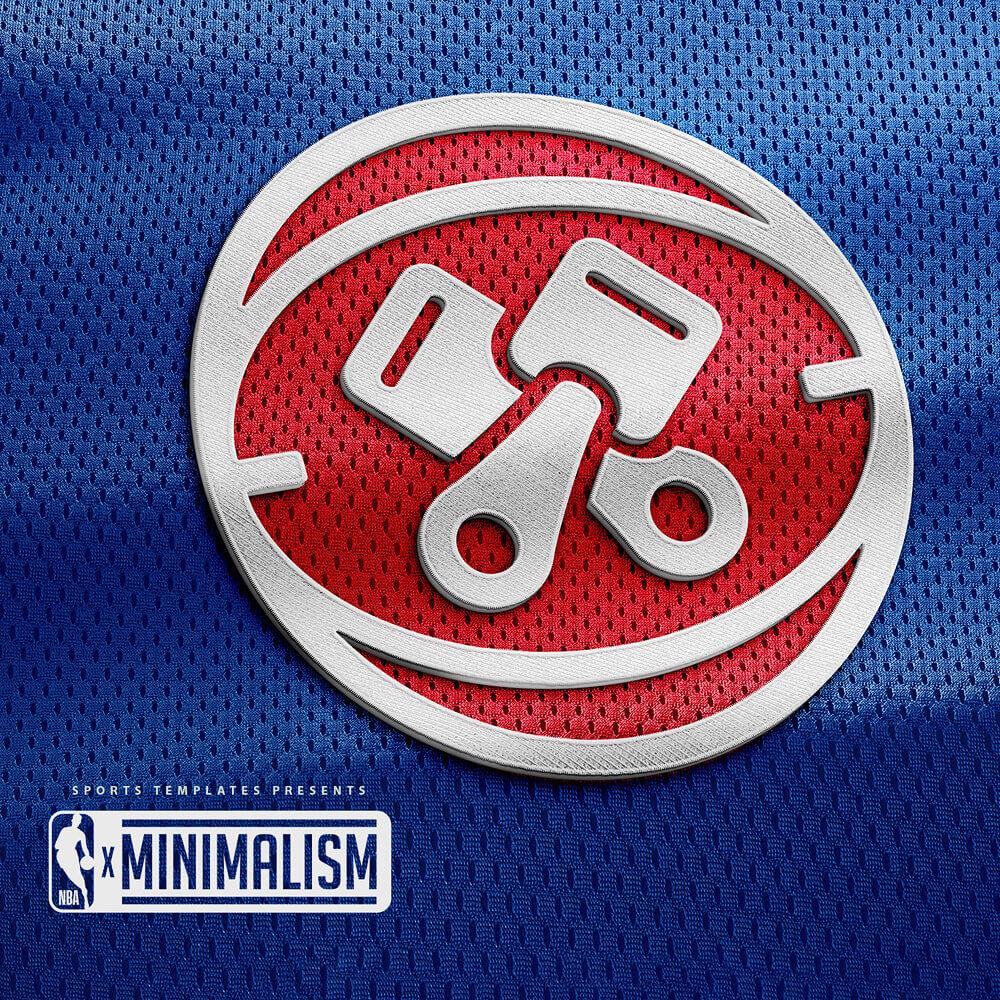 Detroit Pistons Minimalist Logo rebrand
