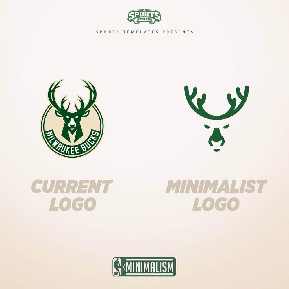 Milwaukee Bucks Minimalist Logo rebrand